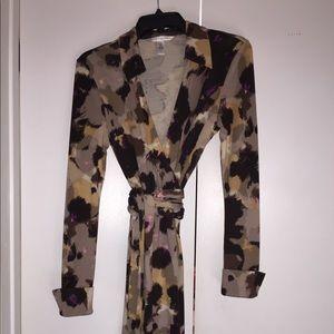 Authentic Diane Von Furstenburg Wrap Silk Dress 6